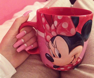 cold days, cup, and minnie mouse image