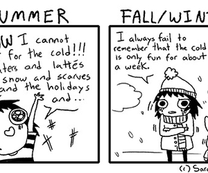 funny, summer, and winter image