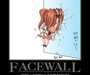 facepalm, funny, and facewall image
