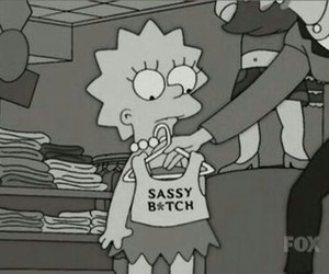 sassy, simpsons, and bitch image