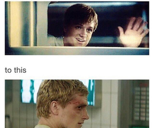 mockingjay, peeta, and hunger games image