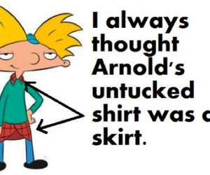 funny, hey arnold, and arnold image