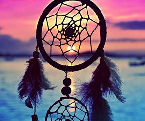 sunset, Dream, and dreamcatcher image