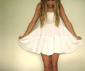 beautiful, blond, and dress image
