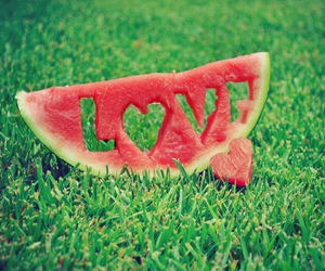 fruit, love, and grass image
