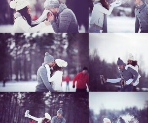 couples, winter, and cute image