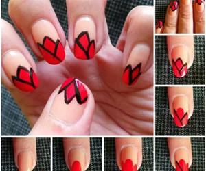 art, nail, and red image