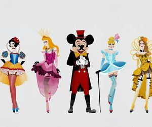 disney, princess, and mickey mouse image
