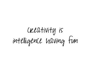 creativity, intelligence, and quote image