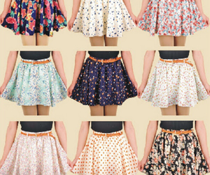 colors, flowers, and skirts image