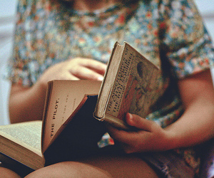 back then, vintage, and books image