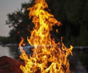 bonfire, fire, and flames image