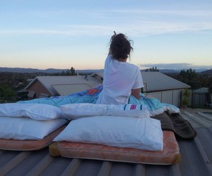 girl, roof, and goals image