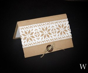 christmas card, lace, and snowflake image