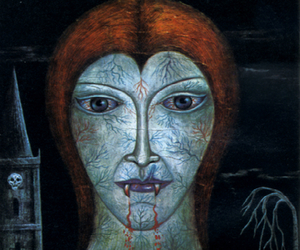 black magic, illustration, and vampire image