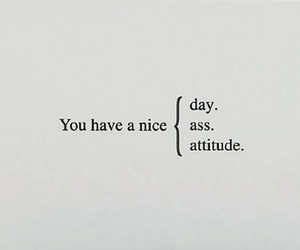ass, typography, and attitude image