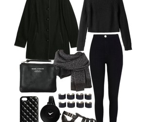 fashion, blackoutfit, and outfit image