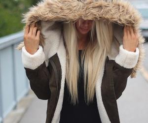 fashion, blonde, and jacket image