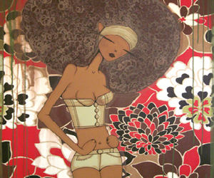 70's, Afro, and black girl image