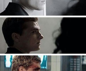 peeta mellark, mockingjay, and thg image