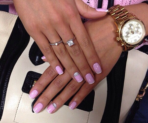 nails, girl, and love image