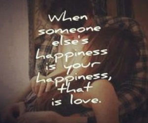 love, happiness, and quote image