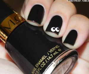 nails, black, and eyes image