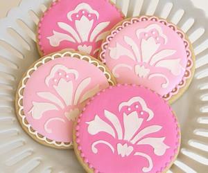 pink, Cookies, and food image