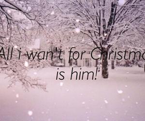 christmas, him, and snow image