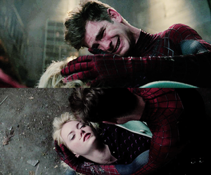 death, peter parker, and andrew garfield image