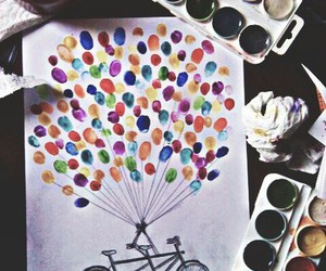 art, balloons, and colors image