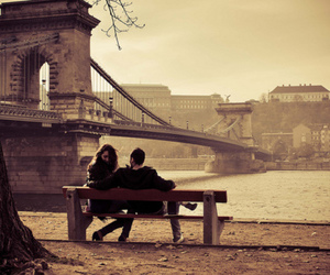 love, couple, and budapest image