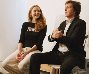 Lily Cole, new, and Paul McCartney image