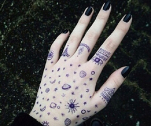 hand, grunge, and drawing image