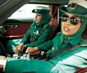 beautiful, policewoman, and Dubai image