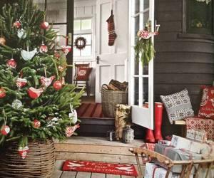christmas, home decor, and snow image