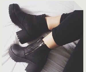 black, shoes, and love these shoes image