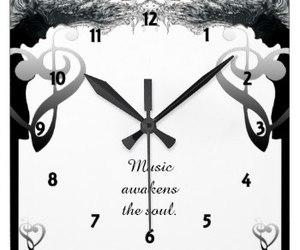 Awakening, music, and clock image