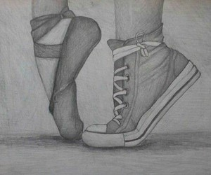 ballet, converse, and draw image