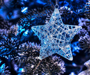 blue, christmas, and star image