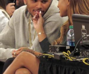 chris brown, couple, and love image