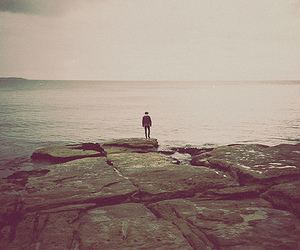 alone and ocean image