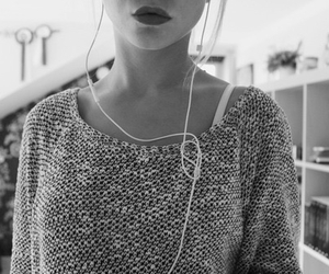 girl, music, and lips image