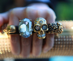 rings, skull, and diamond image