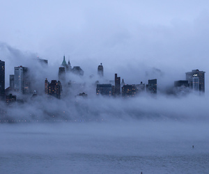 city, fog, and grunge image
