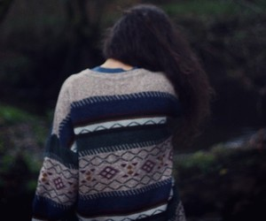 girl, vintage, and sweater image