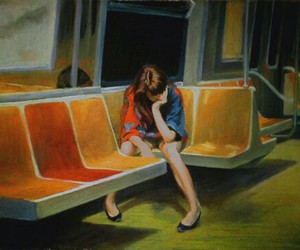 art, painting, and alone image