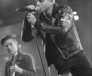 jesse rutherford, the nbhd, and black and white image