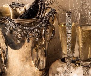 champagne, diamond, and luxury image