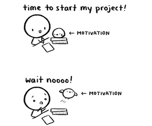 motivation, chibird, and project image